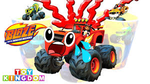 monster truck toy videos best learning videos for kids learn colors with blaze and the