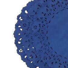 Sapphire Blue Royal Sapphire Blue Paper Lace Doilies 4 6