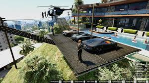 franklin u0027s playboy safehouse helipad car park gta5 mods com