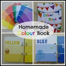make a colour book for your toddler from paint swatches book