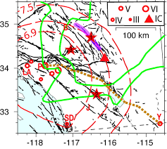 Newport Inglewood Fault Map Estimating Locations And Magnitudes Of Earthquakes In Southern