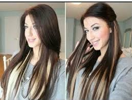 pics of blondes with dark hair underneath brown blonde underneath medium hair styles ideas 24445