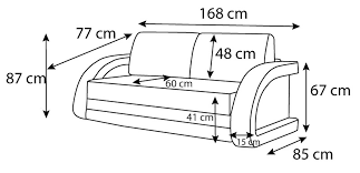 dimension d un canapé canapé convertible en lit canapé lumineux collection mirco