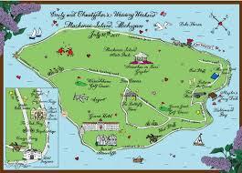 map of mackinac island maps mackinac island mi hooper calligraphy