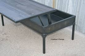 Industrial Wood Coffee Table by Buy A Custom Adjustable Height Coffee Table Lift Top Modern