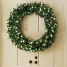 lighted christmas wreaths for windows the place anywhere cordless prelit double door 48 inch wreath