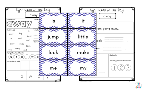Sight Words Worksheets Printable Free Dolch Pre Primer Sight Words Worksheets With