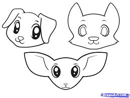how to draw a dog for kids baby dog pets and animals easy