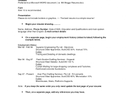 Resume Employment History Format by Resume Layout Examples Resume Example