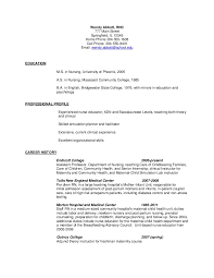 Nursing Resume Examples With Clinical Experience by Resume Before