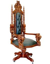 fauteuil bureau fauteuil de bureau à têtes de en acajou castle meuble de style