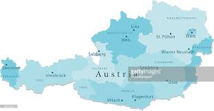 austria map vector austria vector map regions isolated vector getty images