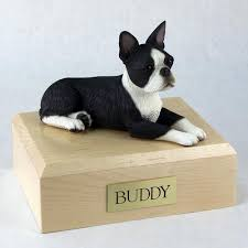 boston cremation boston terrier figurine pet cremation urn