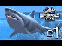 biggest megalodon shark the biggest shark ever megalodon jurassic world lagoon series