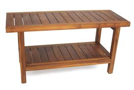 the original 36 spa teak shower bench with shelf