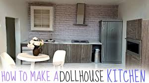 Dollhouse Kitchen Furniture Diy Dollhouse Kitchen Youtube