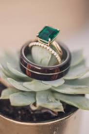 wood engagement rings golden s wood wedding band with titanium inlay available in