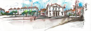 urban sketching a panorama in pen u0026 ink and watercolor artists