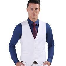 2017 white color men suit dress vests men u0027s fitted leisure
