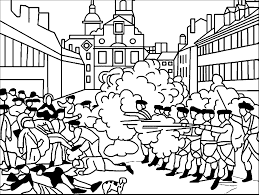 american revolution scene war in city coloring page wecoloringpage