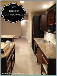 Stain Kitchen Cabinets Darker Staining Oak Kitchen Cabinets Dark Torahenfamilia Com Staining