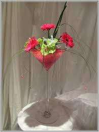 Martini Glass Vase Flower Arrangement Flower Arrangements In Martini Glass Vases Home Design Ideas