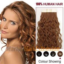 human hair extensions 16 light auburn 30 20pcs curly in human hair extensions