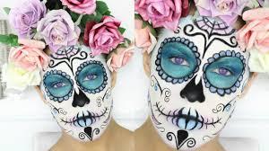 halloween background sugar skulls halloween makeup pastel sugar skull nikkia joy youtube