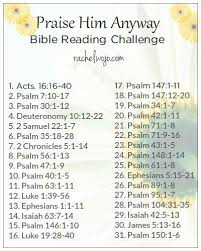 praise him anyway bible reading challenge bible scriptures and