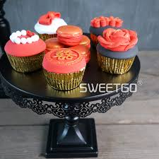 black wedding cake stands dessert tray for wedding birthday home