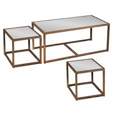 3 piece coffee table set modern contemporary lucite nesting tables allmodern