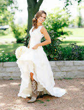 high low wedding dress with cowboy boots country wedding dress ebay