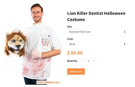 Dental Halloween Costumes Halloween Costumes 2015 Company Sells Dr Walter Palmer Cecil