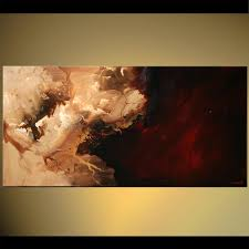 abstract painting dark brown and sand color abstract painting 5613