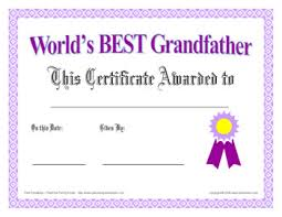 world u0027s best grandfather certificate father u0027s day or any day