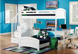 Rooms To Go Kids Loft Bed by Cottage Colors White Twin Twin Step Loft Bedroom W Desk Bedroom