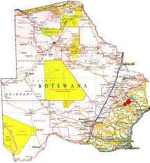 Botswana Map شبكة الإسراء والمعراج إسراج خريطة بتسوانا الشاملة Map Of