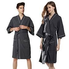 robe de chambre pour spa gaufre peignoir de bain lui et pour waffle robe de