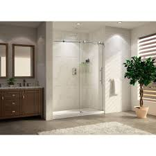 Glass Wall Doors by Wet Republic Trident Lux 48 Premium 48 In W X 76 In H Frameless