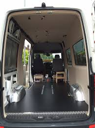 volkswagen minibus interior self build motorhome conversion of our volkswagen crafter