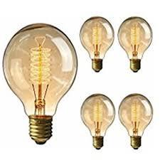 incandescent light bulb specifications 5pcs g95 antique retro vintage edison bulbs e27 incandescent light