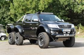 mercedes pickup truck 6x6 bulgarian tuner builds toyota hilux 6x6
