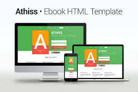 athiss ebook html template html css themes creative market