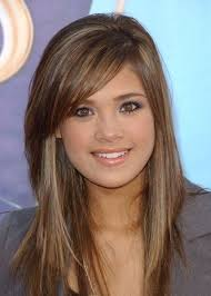 brunette hairstyles wiyh swept away bangs sexy hairstyles for oval faces side bangs light brown hair and