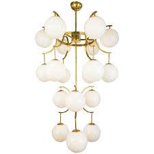 mid century modern pendant lighting chandeliers design magnificent murano white glass globes brass