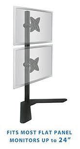 mount it dual monitor stand free standing desk mount adjustable
