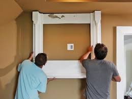 Best Way To Hide Wires From Wall Mounted Tv How To Build A Tv Wall Mount Frame How Tos Diy