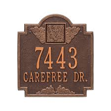 monogram plaques whitehall products monogram standard wall square antique copper 2