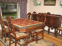 Chair Antique Dining Table With Chairs In Open Plan Kitchen Room - Antique dining room furniture