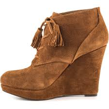 s boots wedge s cyntia canela brown split s 120